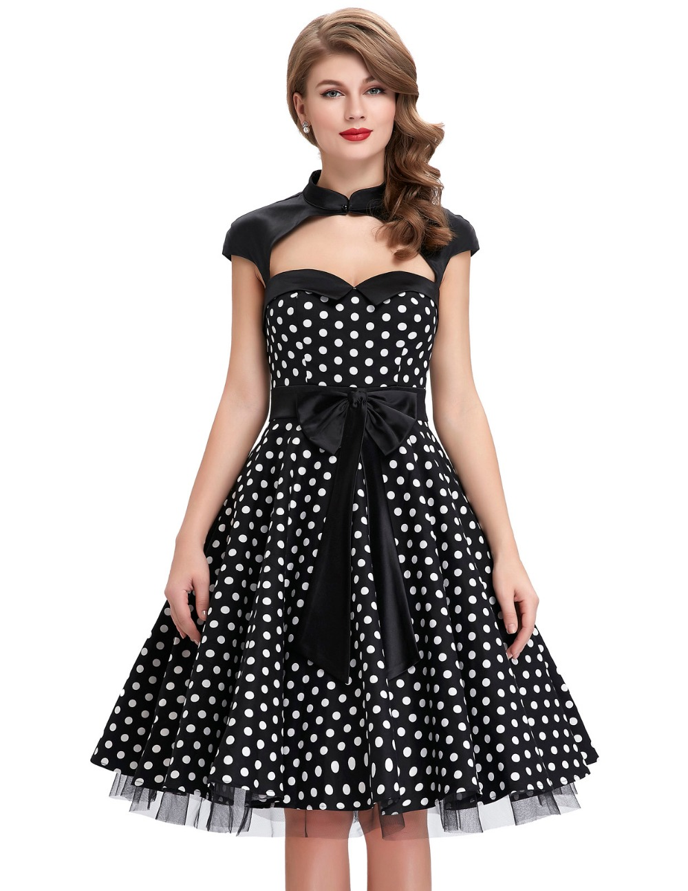 Womens Summer Dresses 2017 Summer style 50s Vintage Polka ...