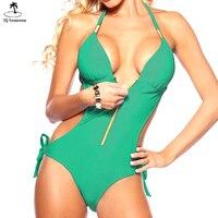 2016 Hot Sale Vintage Retro One Piece Swimsuit Womens Sexy Boho Ethnic Geometric Monokini Swimwear