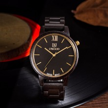 Uwood Slim Zebra Solid Wood Watch Mens Wooden Watches Classy relogio masculino