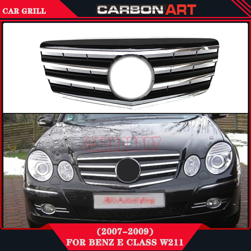 E63 Style design replacement ABS Front grill mesh for Mercedes 2007 2008 2009 E CLASS W211