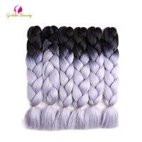 Golden Beauty 10 Packs Lot 24inch Synthetic Crochet Braids Jumbo Braid Hair Extensions For Braiding Hair