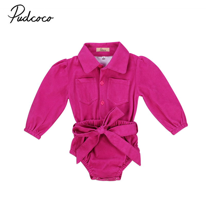 New Style Newborn Infant Baby Girls Clothes Long Sleeve Bodysuit Shirt Jumpsuit Kids Outfits Baby Clothing