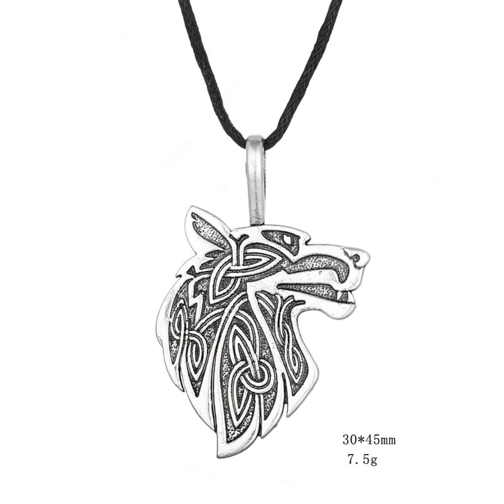 Dawapara Viking necklace Fox Triquetra Fenrir Animal Teen Wolf Necklace men Fashion Jewelry pendant Supernatural Amulet Knot 25