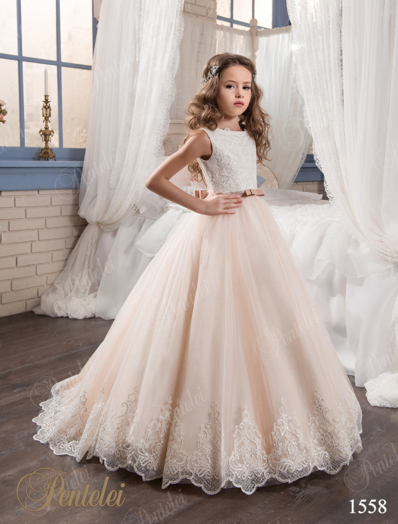 2017 lace pink flower girl dresses for weddings vintage for Wedding dresses for young girls