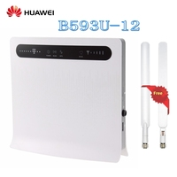 Unlocked Huawei B593 B593u 12 4G LTE 100Mbps CPE Router with Sim CardSlot 4G LTE WiFi Router with 4 Lan Port Plus Antenna