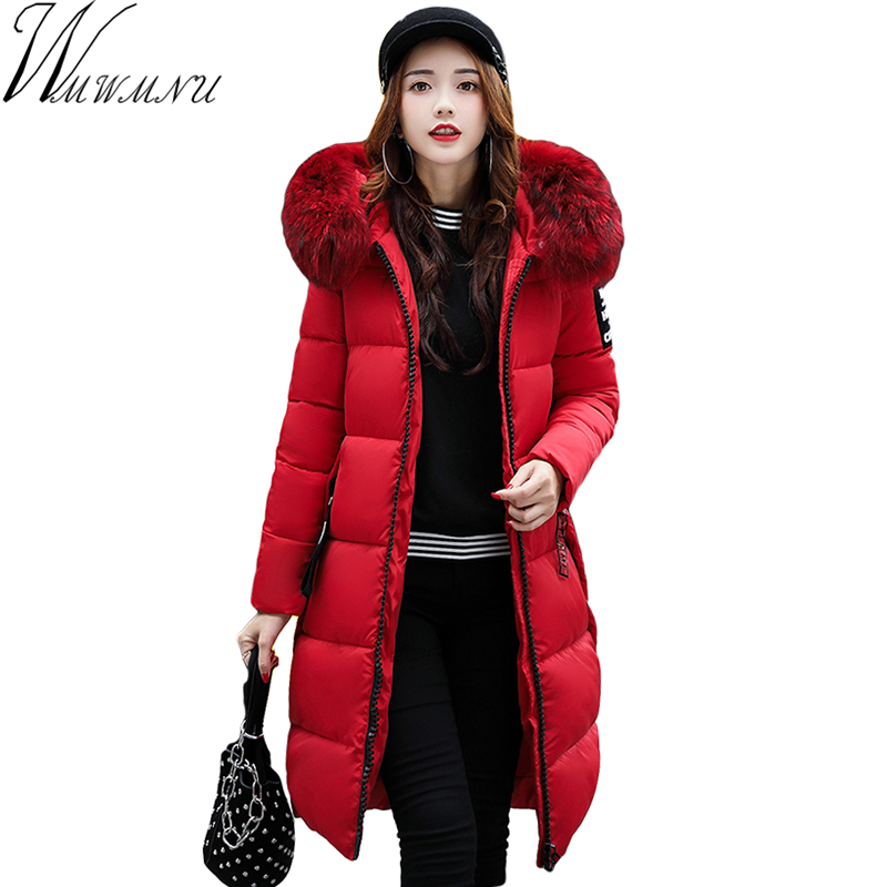Wmwmnu New Arrival Hot Sale Brand 2017 Hooded Parkas For Women Winter Fashion Warm Collar Long
