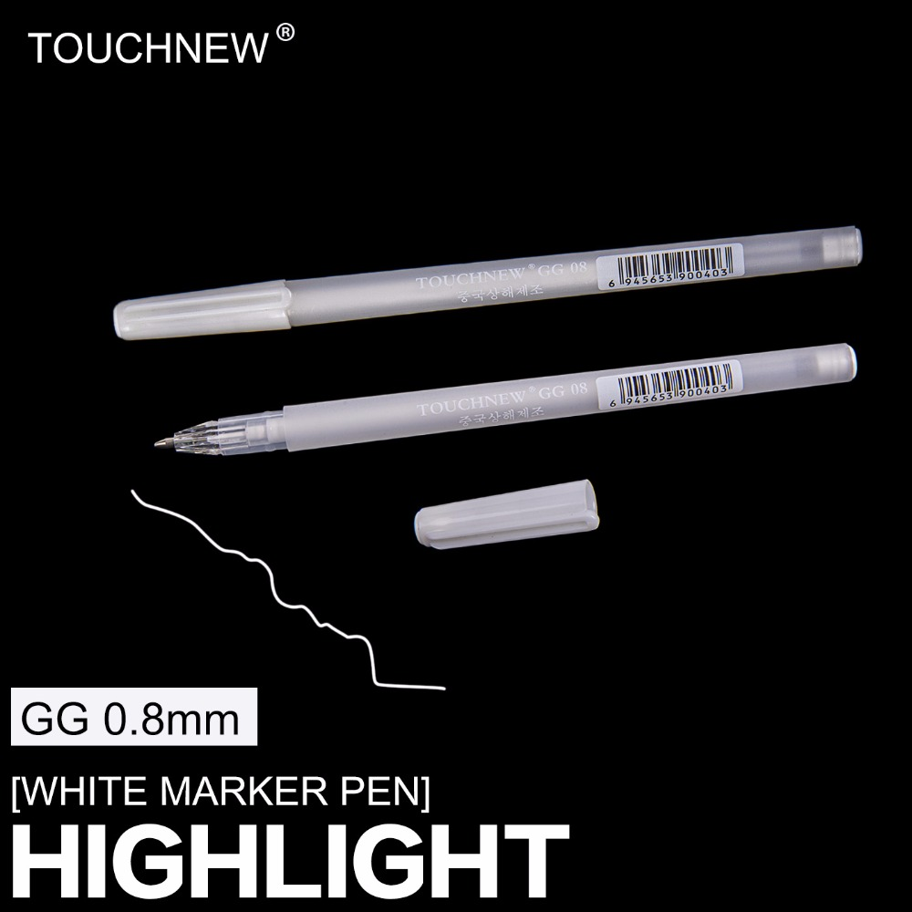 TOUCHNEW White Hightlight Art Marker Paint Pen Set For Art Draw Design, Children Ballpoint Pen Stationery For Office School Tool
