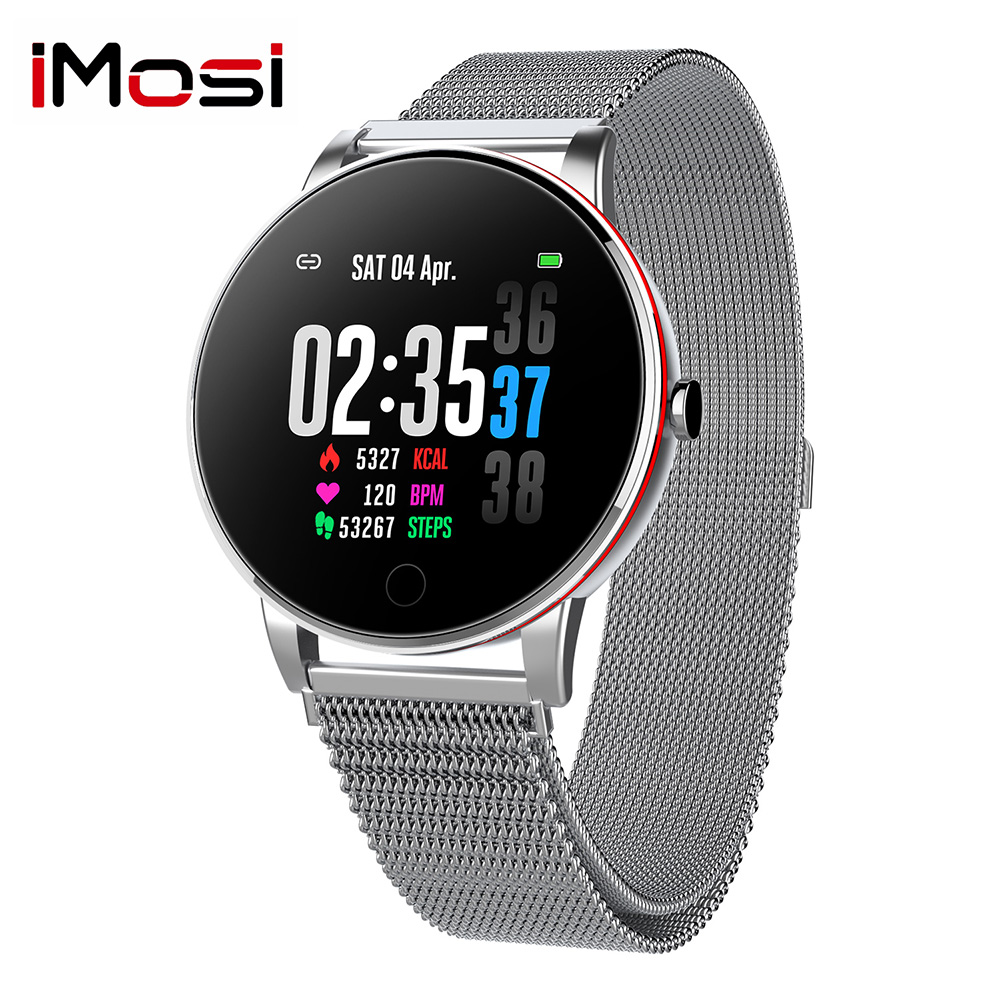 Imosi Y9 Smart Uhr IP68 Wasserdichte <font><b>Smartwatch</b></font> frauen Mode Fitness Tracker blutdruck Herz Rate monitor smart band image