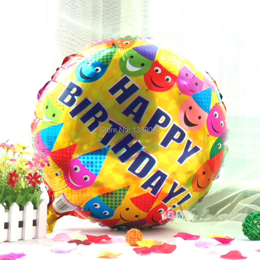 2PCS New Clown Smile Face Happy Birthday Helium Foil Balloons ...