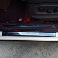 4 Pcs Car Door Scuff Plate Pedal Sill Trim For Volkswagen VW Tiguan MK2 2017 2018