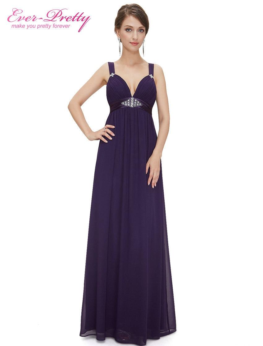 [Clearance Sale] Formal Evening Dresses Ever Pretty HE08083 Sexy Deep V Neck Chiffon Elegant ...