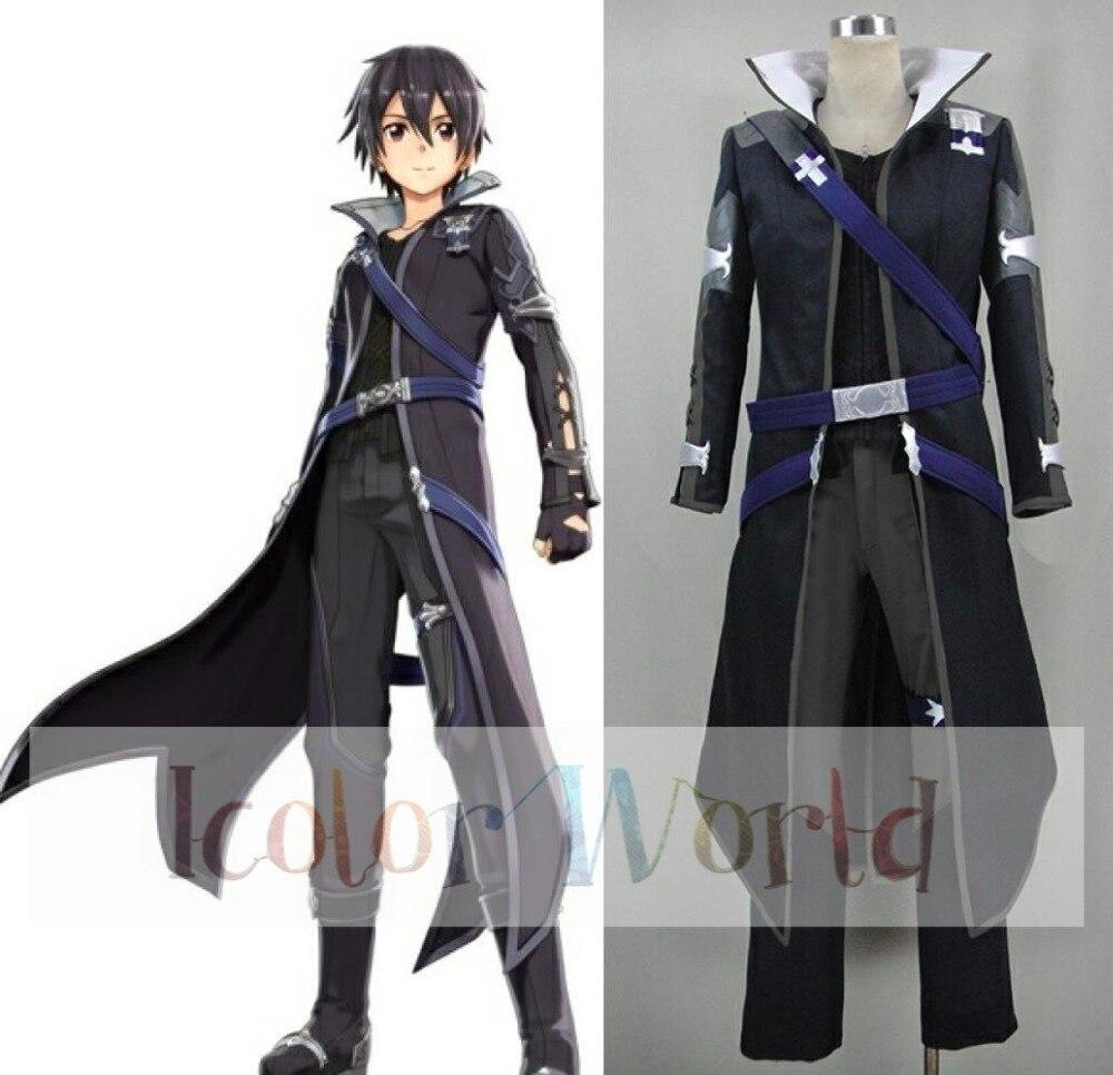 Sword Art Online Hollow Realization Kirigaya Kazuto Kirito Cosplay Costume