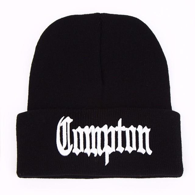 85e4be8bcf6 West beach gangsta Compton Eazy-E compton Winter Warm Fashion Beanies  Knitted bonnet Caps Hip Hop Gorros Knit Hats Men Women