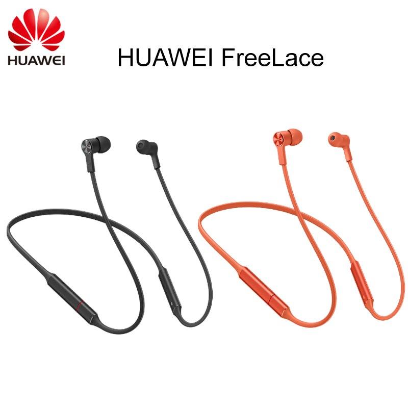 Écouteur de Sport Huawei FreeLace Huawei Bluetooth casque sans fil câble mémoire cavité métallique interrupteur magnétique en silicone liquide