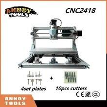 CNC 2418 mini diy CNC laser machine de gravure 0.5 W-5.5 W laser, Pcb Fraiseuse, machine de Sculpture Sur Bois, GRBL contrôle CNC Routeur