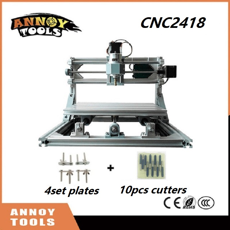 CNC 2418 mini diy CNC laser engraving machine 0.5W-5.5W laser, Pcb Milling Machine,Wood Carving machine,GRBL control CNC Router eur free tax cnc 6040z frame of engraving and milling machine for diy cnc router