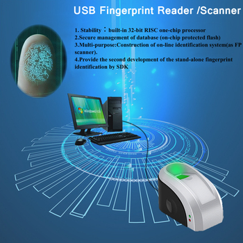 Eseye USB Fingerprint Reader Free SDK Biometric Fingerprint Scanner Fingerprint Sensor Portable Personal With SDK Windows Linux biometric reader zk4500 sdk fingerprint scanner zk4500 fingerprint reader support sdk development in stock