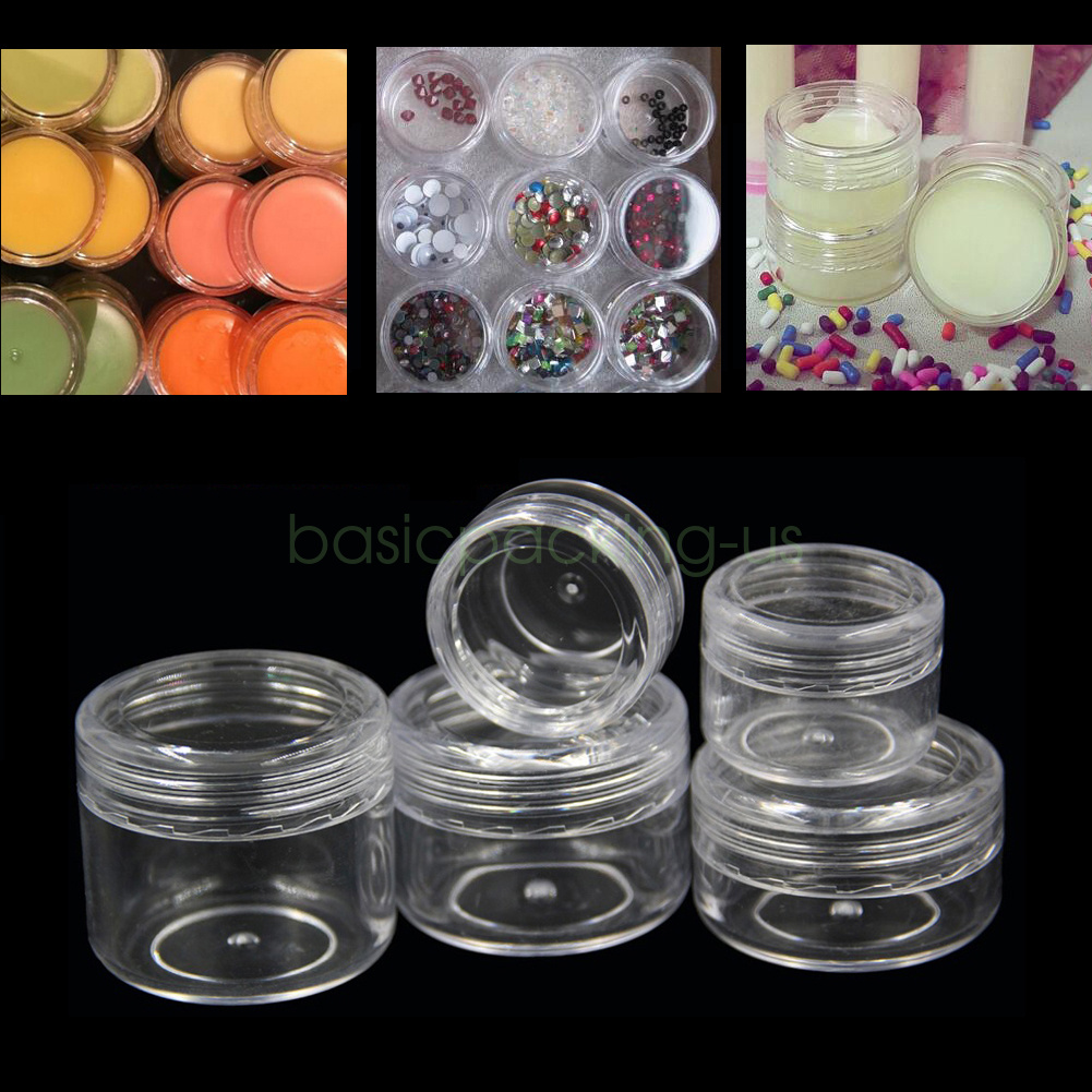 30pcs Empty Cosmetic Jars Refillable Bottles Makeup Container Small Round Vials Nail Art Face Cream Sample Pots Perfume Gel Box