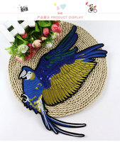 BT388 Swiss USA Wholesale High Quality Sequins Applique Bird Patch Sew Or Iron On Cloth Free