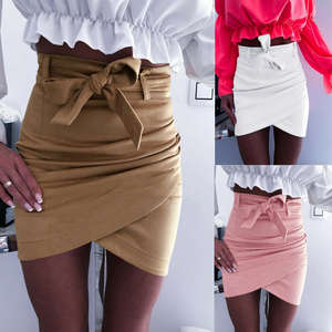 ITFABS High Waist Bodycon Summer Pencil Mini Skirt Women