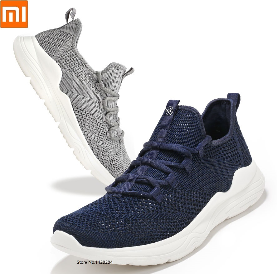 Xiaomi FREETIE men flying woven mesh breathable Lightweight running shoes High elasticity outdoor sports Fitness Sneakers