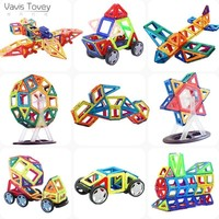 Vavis Tovey Magnetic Building Blocks 111PCS 3D Educational DIY Mini kits Magnet Designer Constructor Accessory Toys kids Gift