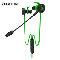 Plextone In Ear Earphone Gaming Headset Stereo With Mic PC Gamer Headset For PS4 Xbox One