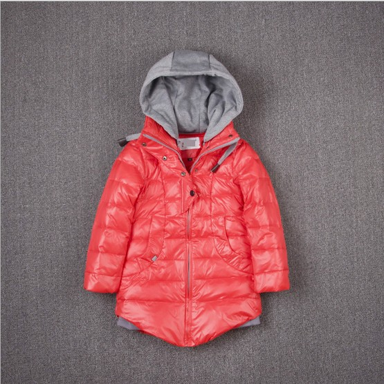 2016 new arrival children long jacket coats kids girl outerwear down jacket winter clothing for girl