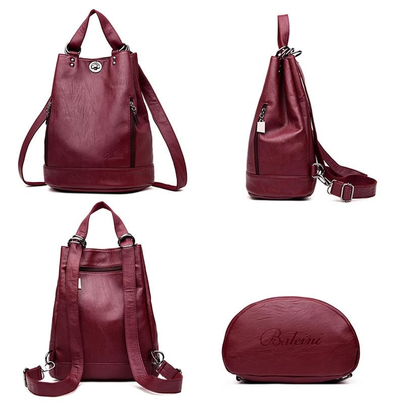 LANYIBAIGE Women Backpack High Quality Leather Backpacks for Teenage Girls Female School Shoulder Bag Bagpack mochila plecak