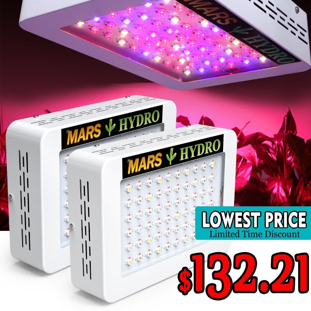 2 pz MarsHydro 300 w/600 w spettro completo LED Luci a intensità di Coltura Idroponica Pannello per Giardino Interno