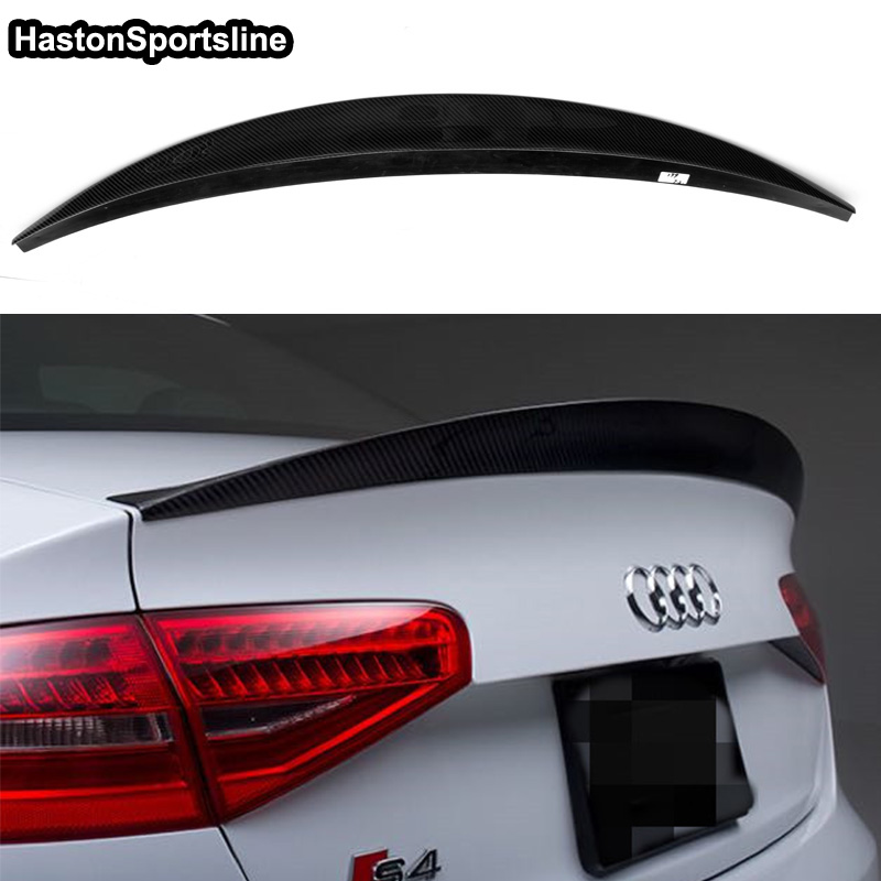 Image 5 - S4 HK Style Carbon Fiber Rear Spoiler Wing for Audi A4 B8.5 S4 4Door 2013~2016-in Spoilers & Wings from Automobiles & Motorcycles