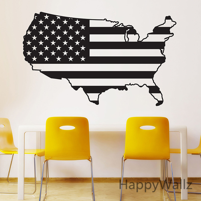 usa map wall sticker map of america wall decal 3d modern american