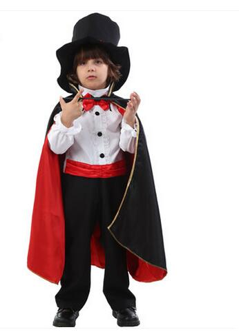 superior quality halloween cosplay party children magician costume with swallowtail clothes hat magic vampire kids devil cloak in boys costumes from novelty - Vampire Pictures For Kids