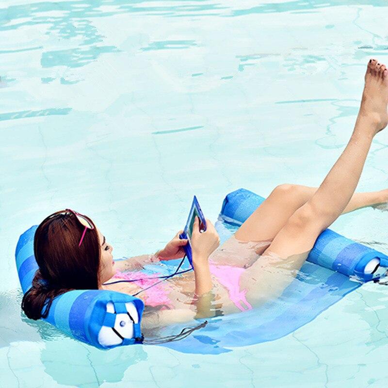 Hamac d'eau flottant de jouets gonflables de l'eau de PVC vert