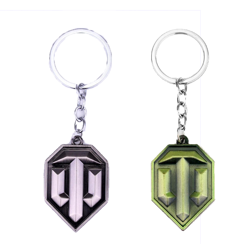 Fashion Teamwork War Game World of Tanks Keychain Tanks Appearance Key Ring Cool Accessories Jewelry Gift for Men Boyfriend