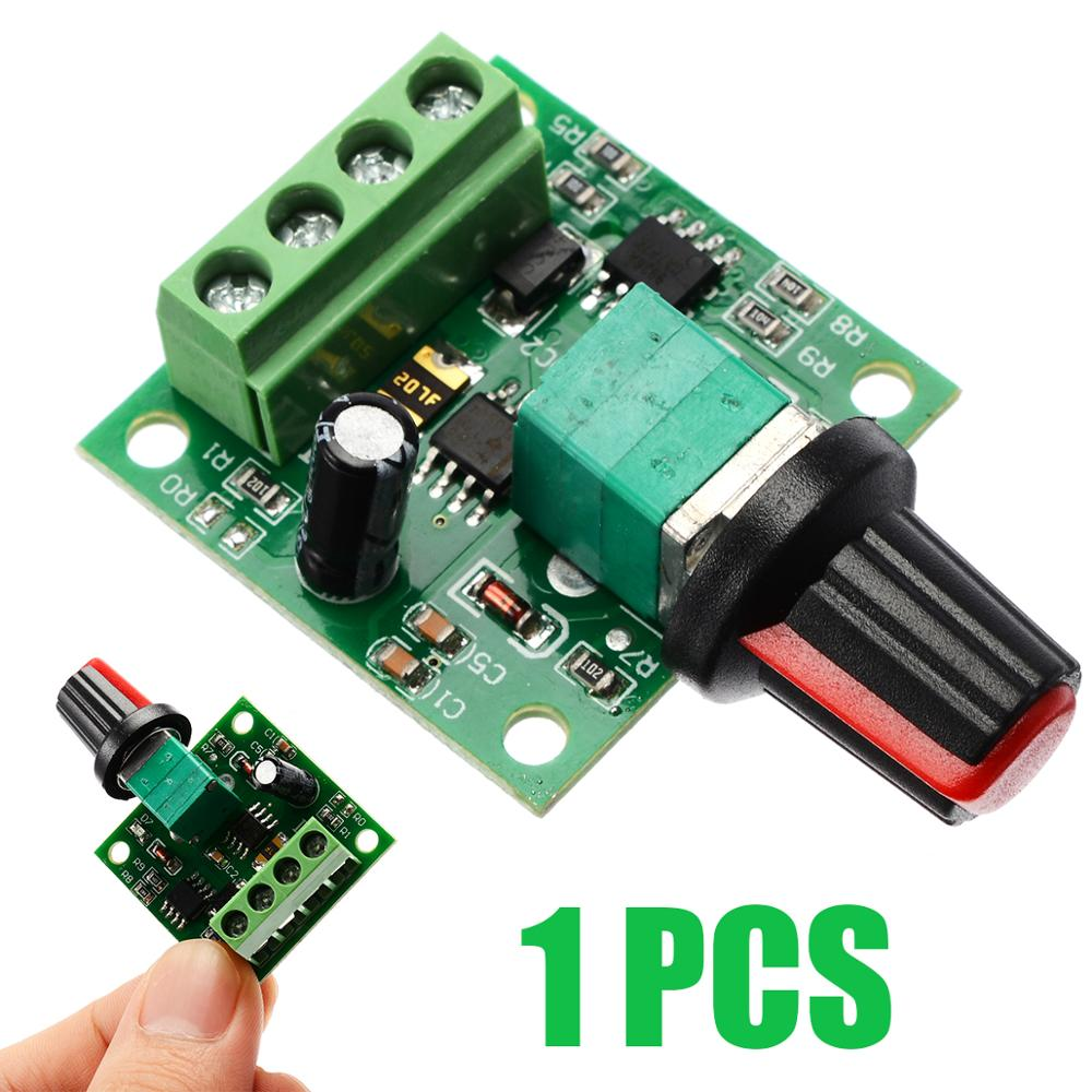 Voltage DC 1.8V 3V 5V 6V 12V 2A Motor Speed Controller PWM Module Adjustable Speed Regulator Control Governor Switch