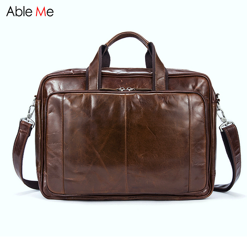 Large capacity men handbags Genuine Leather Messenger Bag Men Crossbody Laptop bags High Quality Shoulder Bags Men can custom men business travel crossbody shoulder handbags bag luxury style messenger bag high quality large capacity genuine leather bags