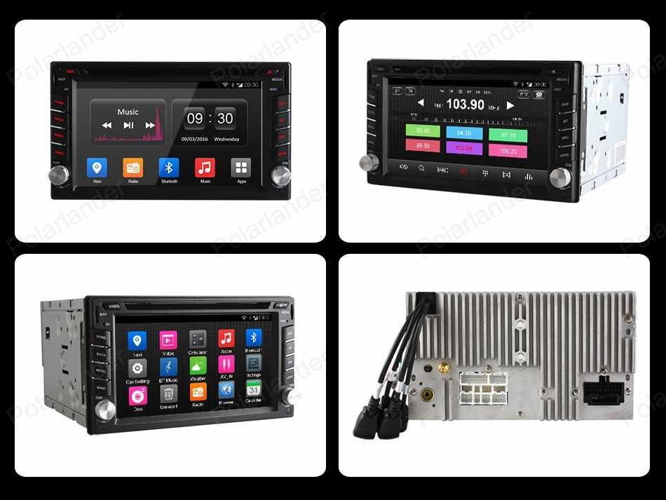 6.5in クアッドコア車の dvd アンドロイド 4.4 カーラジオ 2 ディン Gps ナビラジオ BT 800*480 サポート DAB + TPMS DVR
