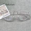 Lente clara llanura gafas Retro vintage hombres mujeres moda montures de luneta 660