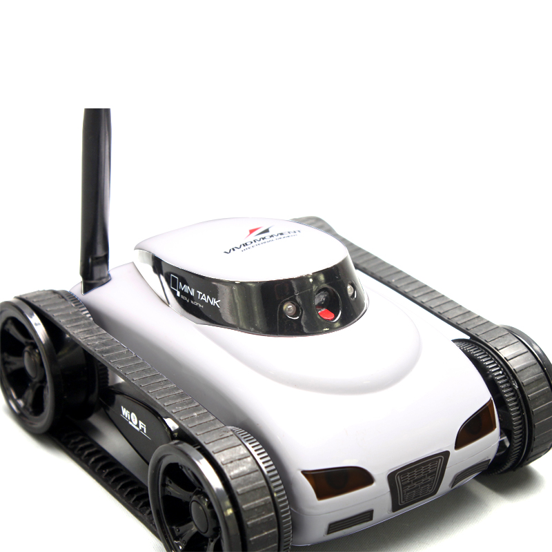 GoolRC New wifi Mini i-spy RC Tank Car RC Camera Cars  777-270 with 30W Pixels Camera for iPhone iPad iPod Controller-White