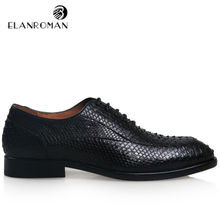 New Snakeskin Design Fashion Series Men's Luxury Oxford Mens Python Leather Men's Formal Dress Shoes wedding party awesome shoes