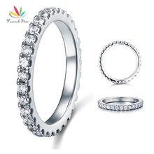 Павлин звезда вечность Твердые 925 Стерлинговое Серебрянное обручальное кольцо укладки кольцо ювелирные изделия CFR8045