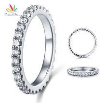 Павлин звезда вечность Твердые стерлингового серебра 925 Обручальное укладки кольца ювелирные изделия CFR8045