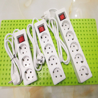250V 10A 3 4 5 EU Plug Sockets Outlet AC Power Charger Wall Socket Plug Mains