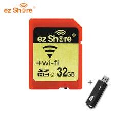 100%Original Real Capacity WIFI Share Memory SD Card 8GB 16GB 32GB Class 10 SDHC cartao de memoria camera card Free Shipping