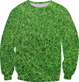 New Harajuku Style Women/Men Green Color Pullover Forest Weed Two Side Print Fleece Sweatshirt Fashion Hoodies Crewneck Tops
