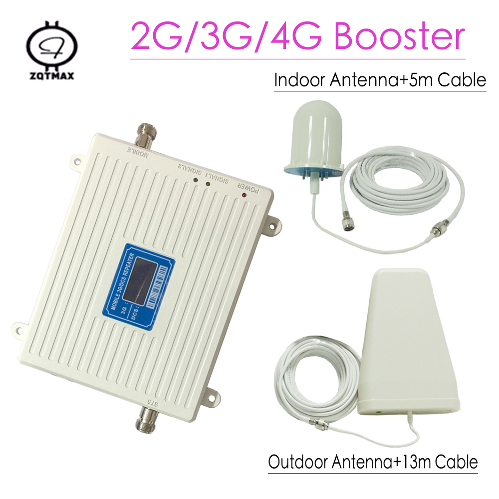 Signal Booster Set Gain 70dB LTE Band 2100 UMTS Mobile Signal Booster 3G WCDMA 2100MHz 3G UMTS Cellular Repeater Amplifier