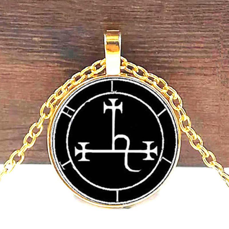 Lilith Sigil уплотнение кулон ожерелье стекло фото Кабина ожерелье Видение 4 цвета