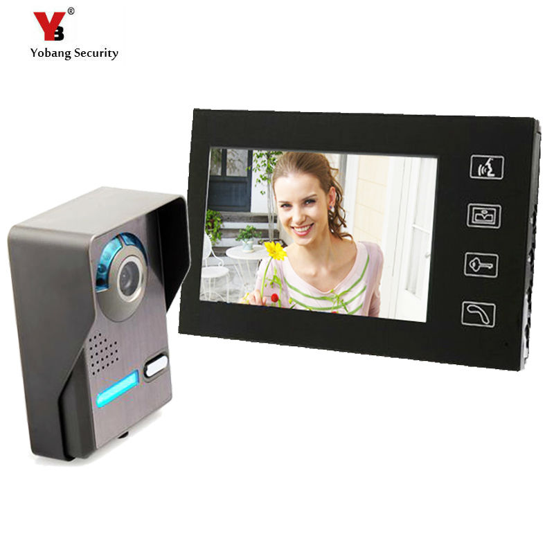 Yobang Security 7'' Video Doorbell Phone Touch keypad Monitor Doorbell Camera with Video Intercom Camera Doorbell Video Door