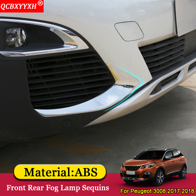 QCBXYYXH Car Styling ABS Chrome Car Front Rear Fog Light